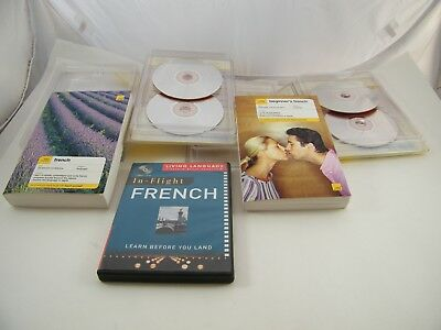 Teach Yourself French, Beginners And In-Flight French Audio Cd With Books