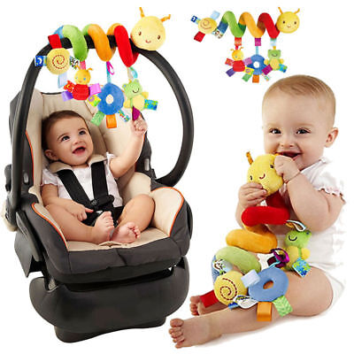 Kid Activity Spiral Stroller Car Seat Travel Lathe Hanging Toys Baby Rattles Toy