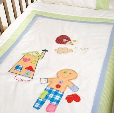 NEW Gingerbread Man Cot Quilt Cover Set