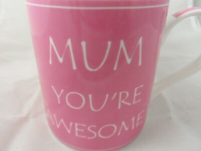 Mum You/'re Awesome Fine China Mug in Gift Box Mother/'s Day Birthday Gifts