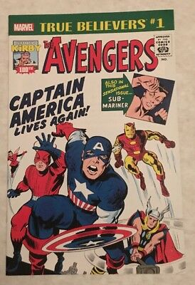 True Believers Kirby 100th Avengers #1 Return of Captain America