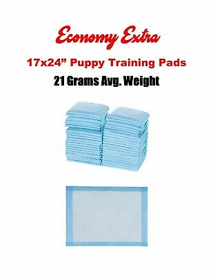 600-17x24 EXTRA Absorbent Economy Quilted Puppy Dog 21grams Pee/ 21 Grams 2x Use
