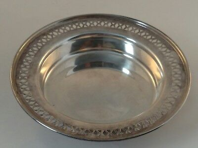 "SHEFFIELD Silver-Plated EPNS Reticulated 6"" Bowl, Wine Coaster, Candy / Nut Dish"