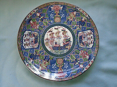 Japanese Porcelain Imari Medallion  Plate Featuring Shipping