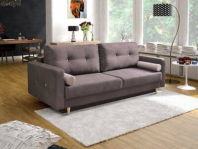 - OSLO - EASY CLEANING 4 seater Sofa bed Fabric Comfy Couch L229xW97CM
