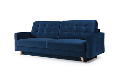 - VEGAS - 4 seater Sofa bed Fabric Comfy Couch Choice of Colours L229xW97CM
