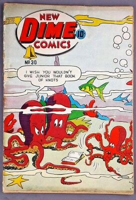 New Dime Comics #30 ( Bell Features 1946) Canadian White Low Grade Variation!