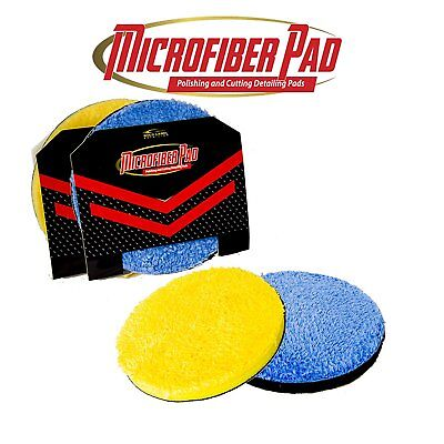 """Microfiber DA 6"""" Buffing and Cutting Pads 2 Pack Quick Detailing Disc"""
