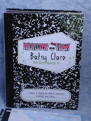 Monster High MH Diary only-- Brand Boo Students Batsy Claro