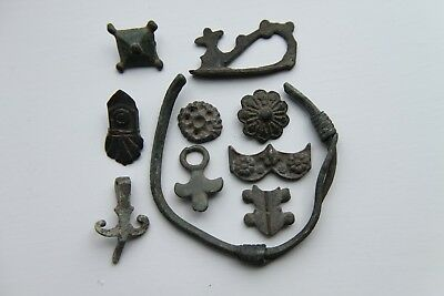 Ancient Viking Group of 10 Bronze Artefacts 700-900 AD