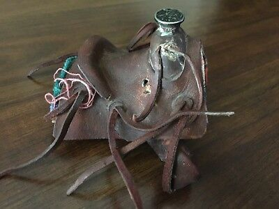 Vintage Collectible Miniature Roper Western Saddle Bout Woody's Size :)
