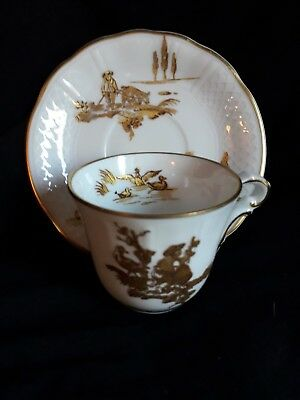 Beautiful B & C Limoges France..Expresso cup and saucer with gold detail