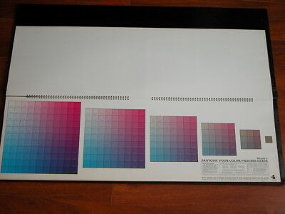 Vtg 1960s Pantone Four Color Process Guide-2 THE PANTONE LIBRARY OF COLOR