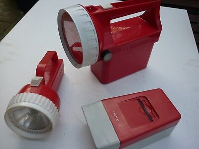 2no vintage torches and vintage 35mm slide hand viewer