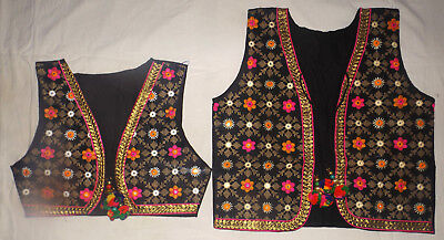 Combo pack of2  thread Embroidry Indian Ethnic Koti Kutch Mirror Work Jacket Top