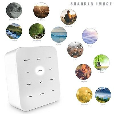 Sharper Image Best White Noise Sound Machine Baby Adult Room Soothing Sleep