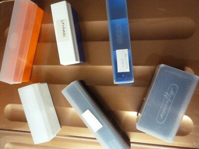 50 x 35mm slide storage boxes, with lids, JOB LOT of sizes and types