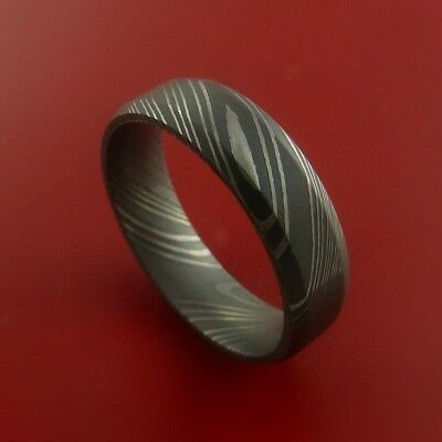 HUNTEX Unique Custom Damascus Steel Ring Size 8 Mens Jewellery Gift