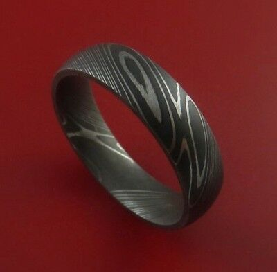 HUNTEX Unique Custom Damascus Steel Ring Size 10.25 Mens Jewellery Gift