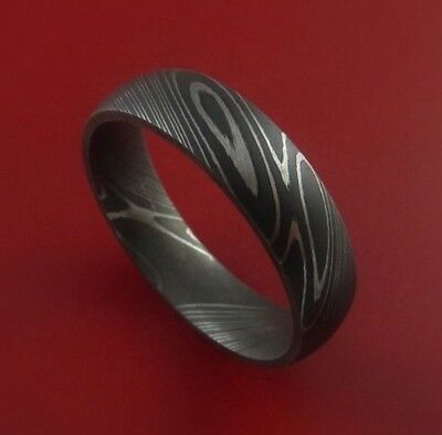 HUNTEX Unique Custom Damascus Steel Ring Size 9.5 Mens Jewellery Gift