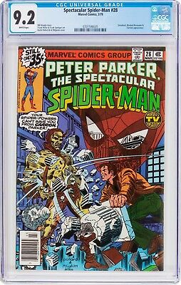Spectacular Spider-Man #28 (Marvel, 1979) CGC NM- 9.2 White pages....