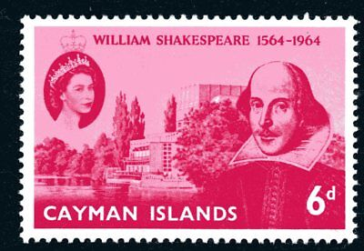 Cayman Islands 1964 6d William Shakespeare Mint Unhinged