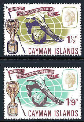 Cayman Islands 1966 Football World Cup  set of 2 Mint Unhinged