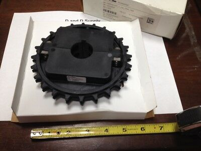 "Rexnord Split Sprocket, NS8500-24T, 1-1/4"" Bore, 24T 1-1/4 1KW 1SS, W/Set Screw"