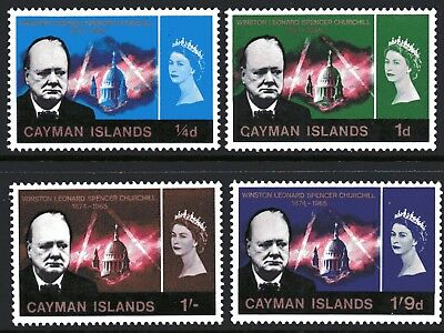 Cayman Islands 1966 Winston Churchill Year set of 4 Mint Unhinged