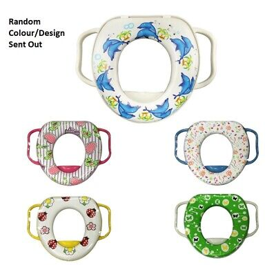 Kids Potty Training Soft Padded Baby Toilet Seat handles Loo Soft Cover Children