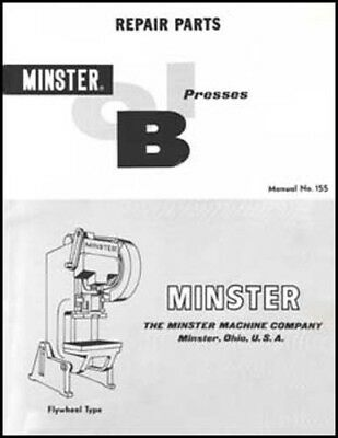 Minster Repair Parts Flywheel Type OBI Manual No. 155
