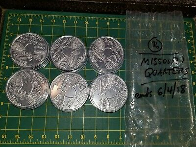 BUNDLE of 100 Gigantic STATEHOOD QUARTERS 3 Inch Coins Novelty Metal Oversized