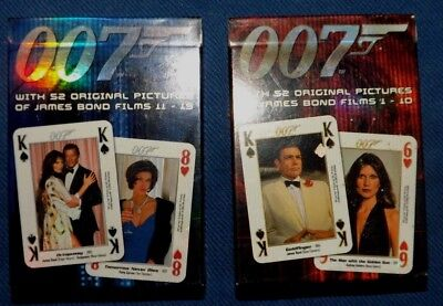 2 X 007 JAMES BOND Collectors Edition Playing Cards - SEALED