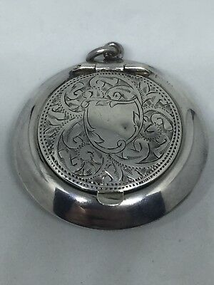 Antique Sterling Silver Pocket Ashtray 925 Handheld Birmingham 1946-47 B.Bros