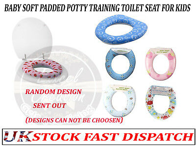 Baby Soft Padded Potty Training Toilet Seat kids Toddler Bathroom Soft Cover