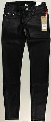 True Religion Womens Jeans Skinny Super Stretch Black Coated WOL592SWP3