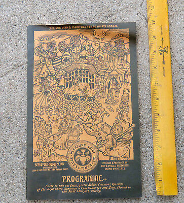 Vintage 1970 The Renaissance Pleasure Faire San Rafael Ca Program