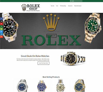 Fully Stocked Rolex Watch business: FREE Domain/Hosting. Up to £2,000 per sale!