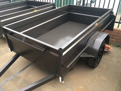 7X4 Brand New High Sided Box Trailer 1 Year Registration NEW
