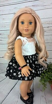 10-11 Custom Doll Wig fit Blythe-American Girl-1/4 Size Doll PEARL ROSE bn7