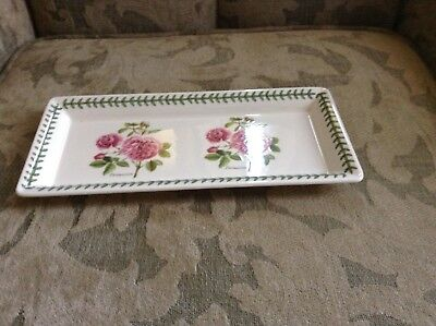 """New Portmeirion BOTANIC ROSES sandwich tray 12"""" x 5.5"""" made in Britain"""