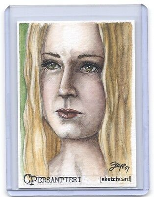 Lord Of The Rings LOTR Eowyn ACEO COLOR sketch card by Connie Persampieri 1/1