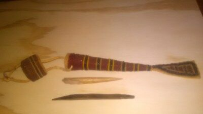 Native American Beaded Awl Case with Awls