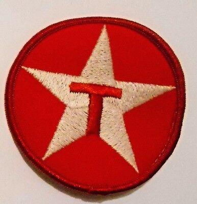 """Texaco Star Gasoline Patch Embroidered Oil 3"""" inches Original Vintage"""