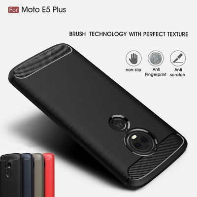 Shockproof Brushed Rubber Soft Case Cover For Motorola Moto E5/Plus/Play Z3 Play