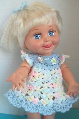 Cute Summer DRESS for 13 in. Galoob Baby Face Dolls - Hand Crocheted