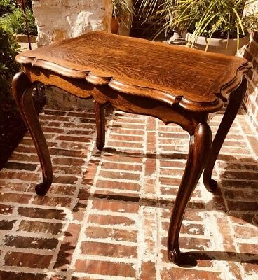 Early Century French Tiger Oak Occasional Table