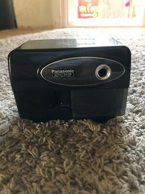 Vintage 1980's Panasonic Auto-Stop Electric Pencil Sharpener KP-310 Black TESTED