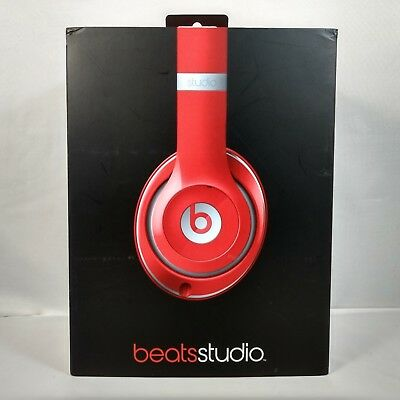 34ea16ac065 New Apple Beats Dr. Dre Studio 2.0 Wired Noise Canceling Over-ear Headphones  Red