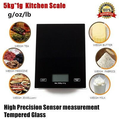 5kg/1g Kitchen Scale Digital Postal LCD Electronic Weight Scales Food Shop Meat
